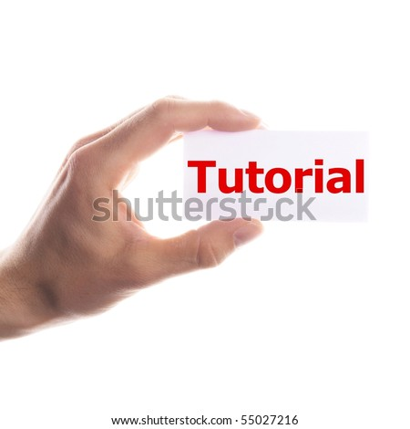 tutorial or howto concept with hand word an paper