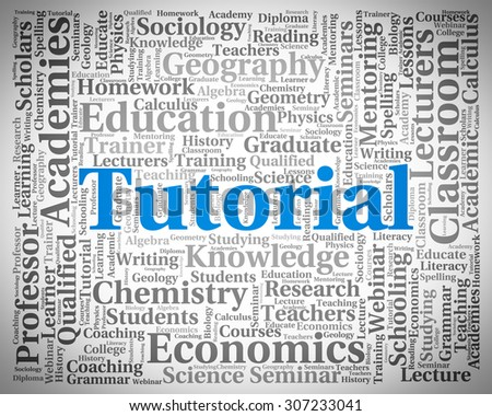 Tutorial Word Showing Online Tutorials And Education - stock photo