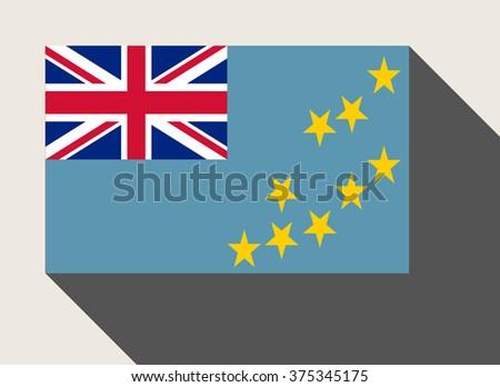 Tuvalu flag in flat web design style. - stock photo