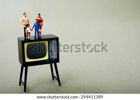 TV and family gatherings - stock photo