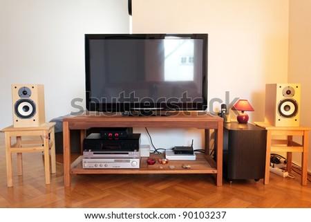 TV and home cinema equipment - stock photo