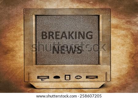 TV breaking news - stock photo