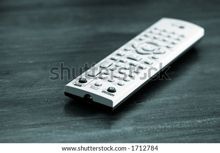 Tv cammand with shallow depth of field - stock photo