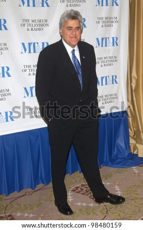 TV chat show host JAY LENO at the Museum of Television & Radio Gala, in Beverly Hills. November 10, 2003  Paul Smith / Featureflash - stock photo