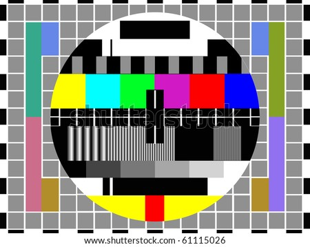 tv color test pattern - test card - stock photo