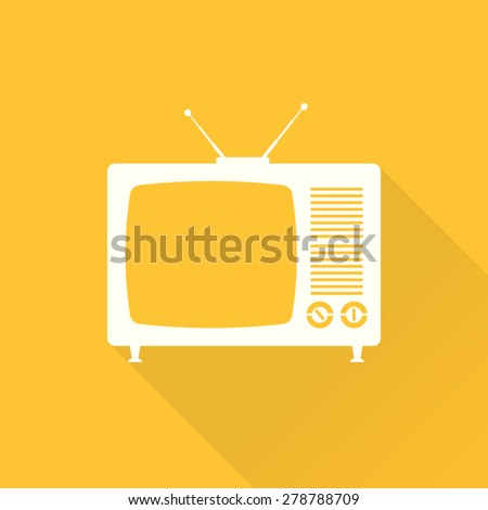 TV flat icon - stock photo