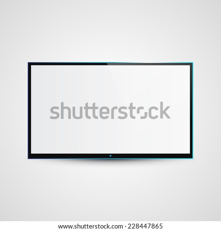 TV Flat Screen Icd Illustration, Graphic Concept  For Your Design. - stock photo
