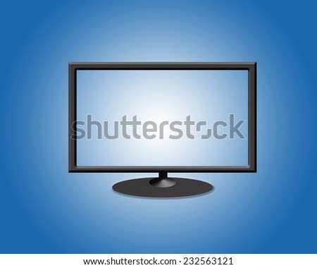 TV flat screen on the background - stock photo