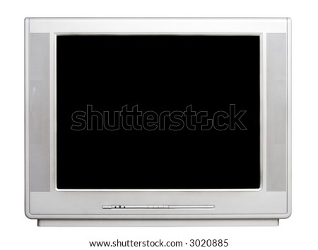 TV front view. Isolated on white.