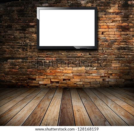 Tv in the grunge room - stock photo