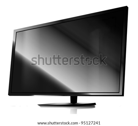 Tv in the white background
