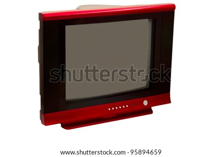 TV isolated on a white background - stock photo