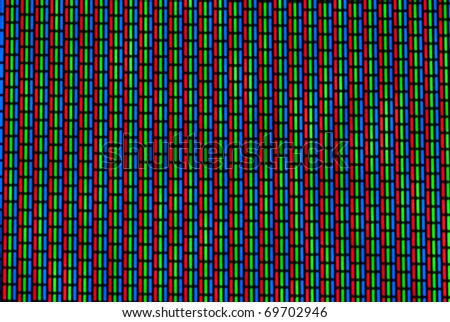 TV noise with moire effect - stock photo