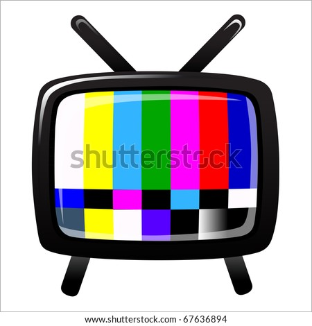tv - NTSC signal - stock photo