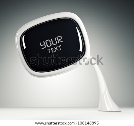 TV of the future. Advertising - stock photo