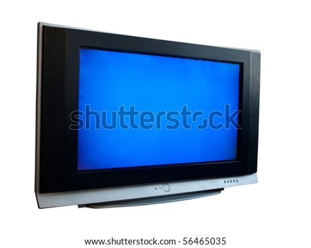 TV on a white background - stock photo