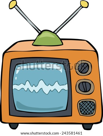 TV on a white background raster version - stock photo