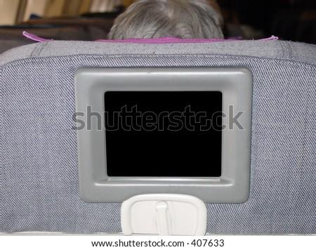 TV on Plane - stock photo