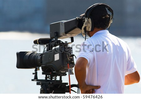 Tv operator with camera