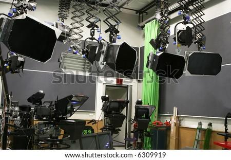 TV production studio - stock photo