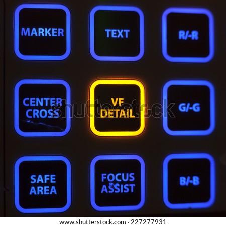TV Professional studio digital video camera - stock photo