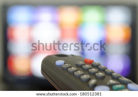 Tv remote control - stock photo