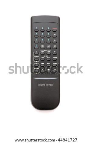 TV remote control isolated on white background. - stock photo