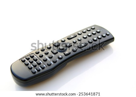 TV remote controller isolated over a white background