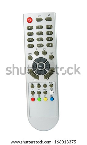 TV remote isolated on white background - stock photo