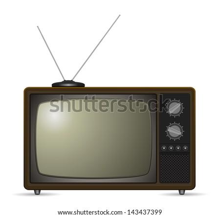 tv retro style - stock photo