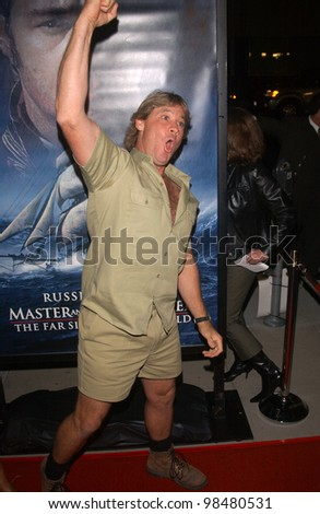 TV's Crocodile Hunter STEVE IRWIN at the Los Angeles premiere of Master and Commander. November 11, 2003  Paul Smith / Featureflash - stock photo