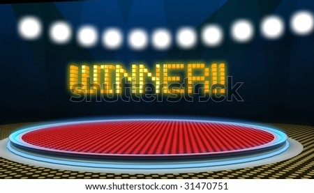 Tv show, contest plato - stock photo