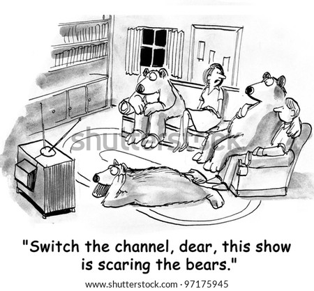 tv show is scaring bears on floor
