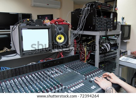 TV studio equipment