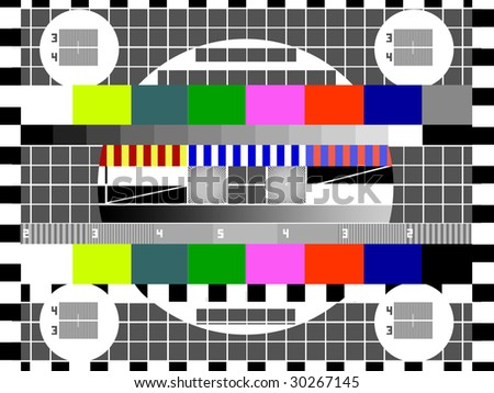 TV test screen illustration - stock photo