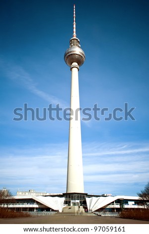 TV Tower in Berlin - Germany - stock photo
