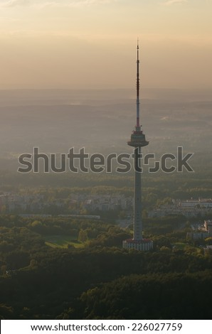 TV tower in Vilnius, Lithuania