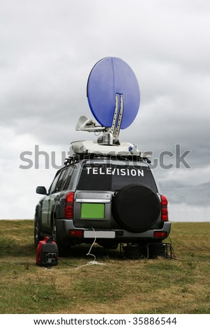 TV  transmitter on a car for reporters