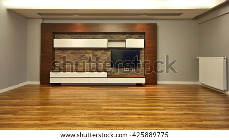 TV Unit at the Empty Living Room