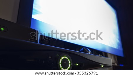 TV video recorder control panel - stock photo