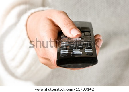 TV Zapping - stock photo