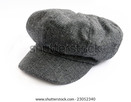 Tweed cap isolated on white background