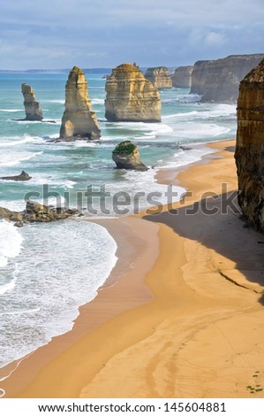 Twelve Apostles along Great Ocean Road, Victoria (Australia) - stock photo