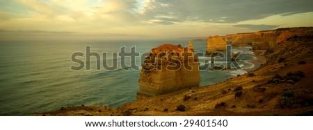 Twelve Apostles, Great Ocean Road, Australia at sunrise. - stock photo