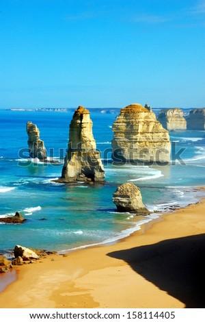 Twelve Apostles on Great Ocean Road, Australia. - stock photo
