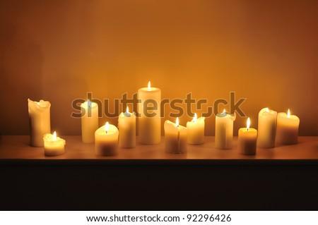 twelve candles - stock photo