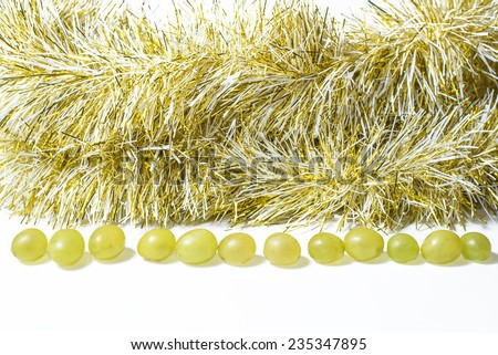Twelve grapes, for celebrate the new year. - stock photo