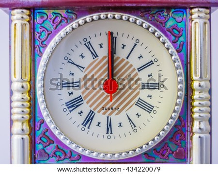 Twelve O`Clock - stock photo