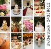 twelve small wedding themed images ideal for website design - stock photo