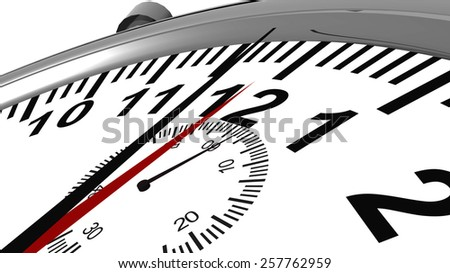 twelve to one, 12 to 1, watch - stock photo